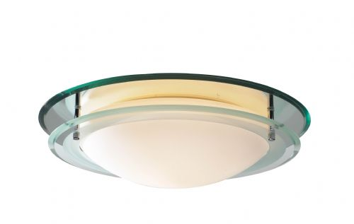 Osis Mirrored Glass IP44 Flush Ceiling Light OSI502 (054224)